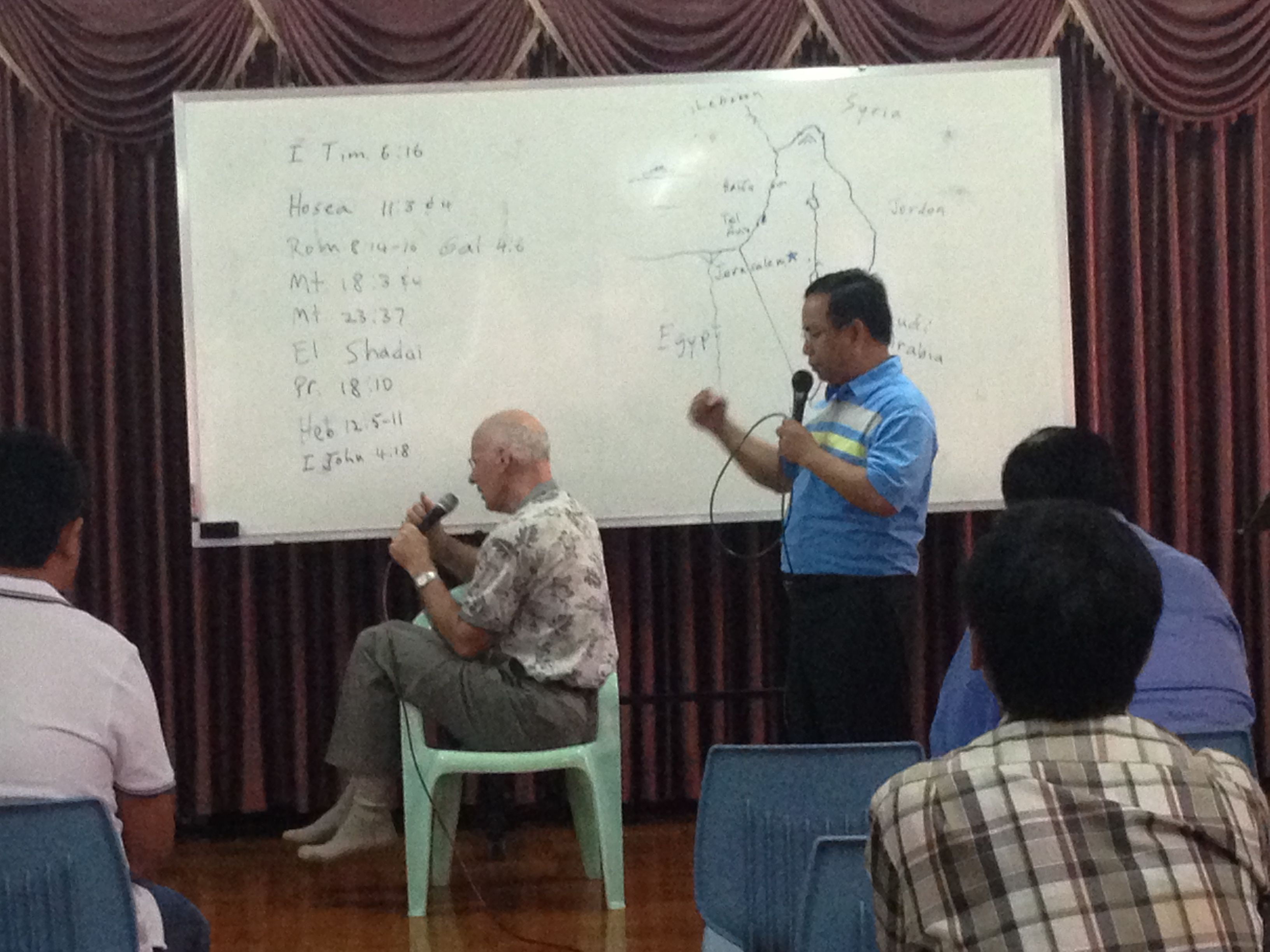 Dr. Meyers & Dr. Khai teaching Christian Leaders and Ministers