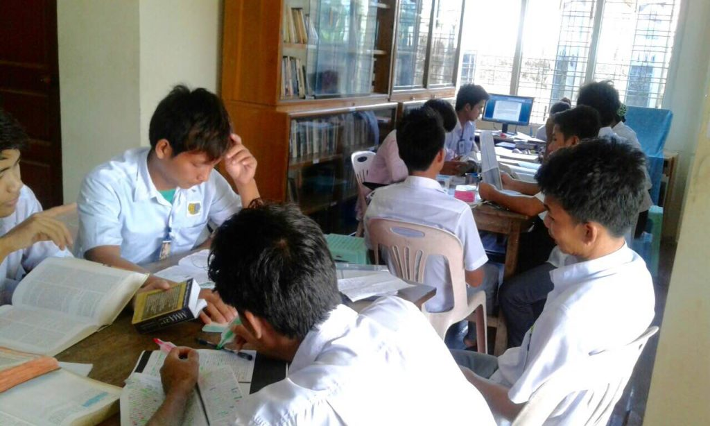 SEABC students studying in the library