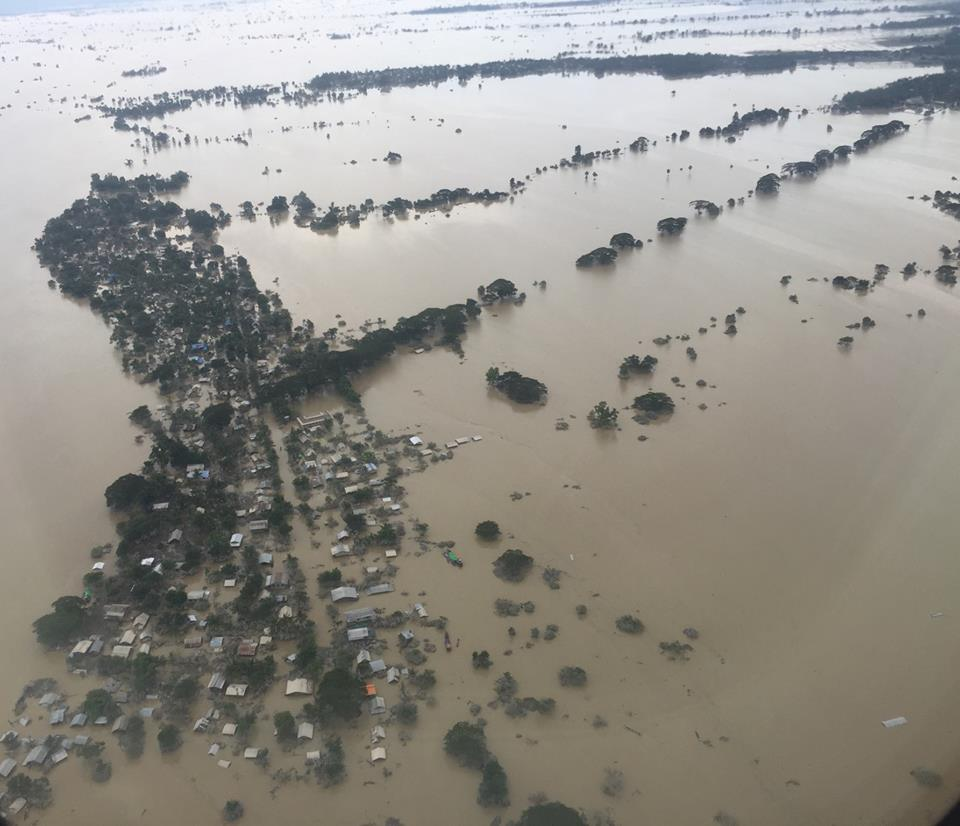 Aerial View of the Flood in Myanmar